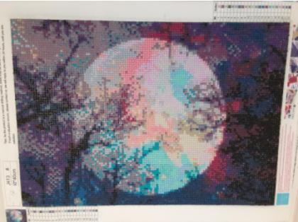 Full Moon 5D Diamond Art - unmounted